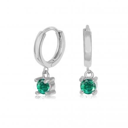 -silver-hoopsEMERALD-earrings