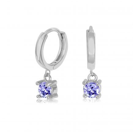 TANZANITE-earrings-SILVER-HOOPS