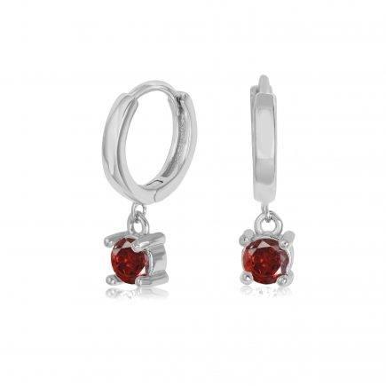 RUBY-earrings-SILVER-HOOPS