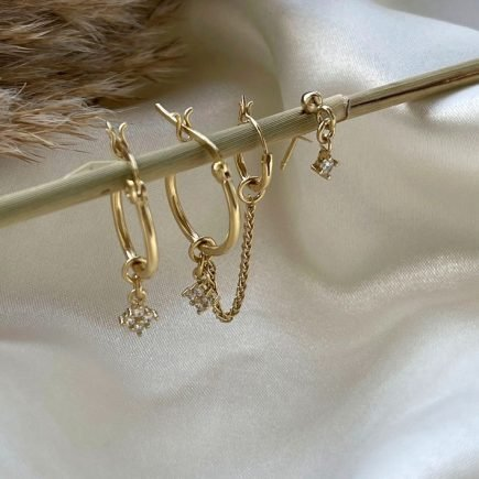 SILVER-GOLD-EARRINGS-HOOPS-SET