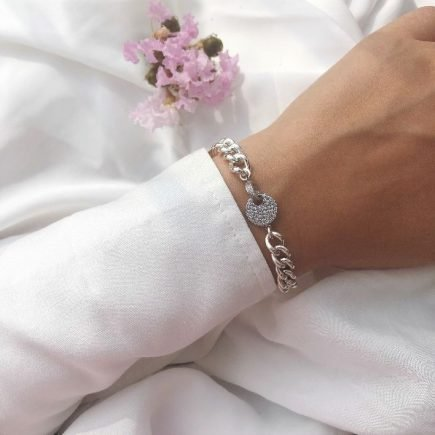cycle-silver-round-bracelet