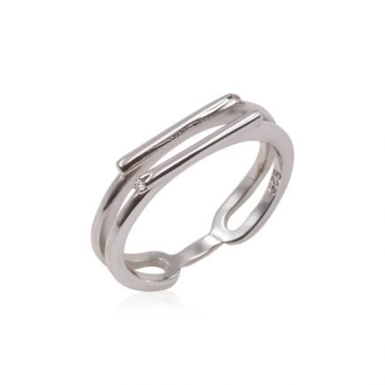 STRIPES-SILVER-RING