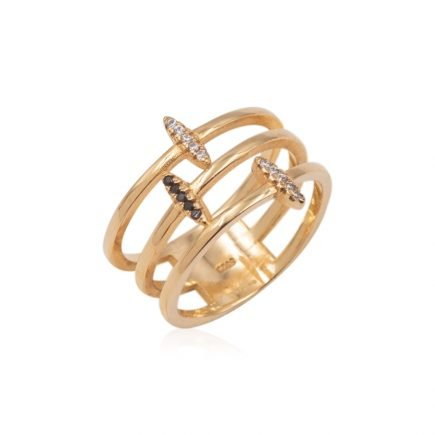 GOLD-STRIPES-SILVER-RING