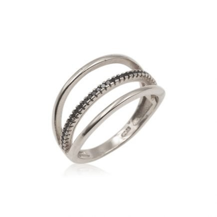 LINES-SILVER-RING-BLACK