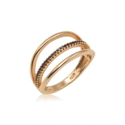 LINES-SILVER-RING-BLACK-GOLD